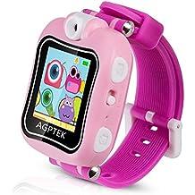 Smartwatch para Niños 4-9 Años, Reloj Táctil Multifunción con Rotación Cámara, Juegos, Temporizador, Despertador de AGPTEK, Color Rosa