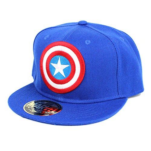 c8ee7a80582d Captain America Marvel Messieurs Snapback – Casquette Classic Logo Bleu