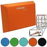 POWRX Balance Pad »Trapezio« in gommapiuma   Balance Board per Ginnastica, Pilates, Fisioterapia   qualità Premium + PDF Workout (Arancione)