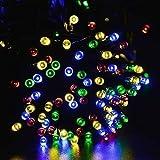 Signstek 200 LED Solar Fairy String Lights 7 Function Mode Multi Colour for Christmas Wedding Party Decor