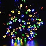 Signstek 200 LED RGB Solar Powered String Fairy Lights for Indoor Outdoor Garden Christmas Wedding Party - Multi Colour