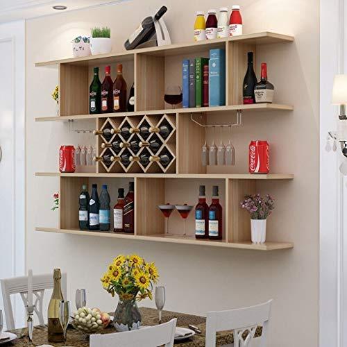 Weinregal HX Weinregal Weinschrank Wohnzimmer Wanddekoration Wein Partition Rack Kreative Wandbehang Modernen Minimalistischen Restaurant Hängen Typ 8 Grid / 11 Grid Wasserhahn