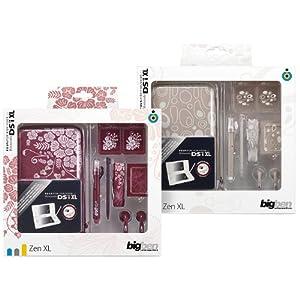 """Nintendo DSi XL – Zubehör-Pack """"Zen XL"""" (farbig sortiert Stone-Beige / Flower-Pink)"""