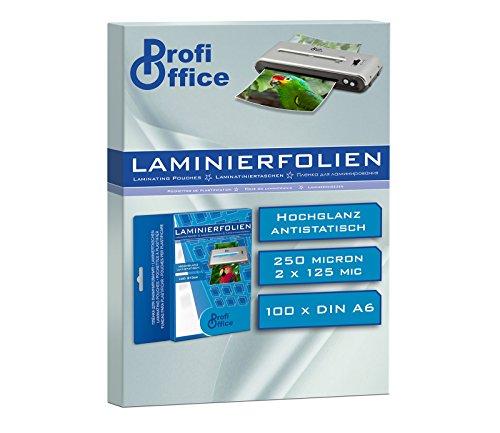 ProfiOffice® Laminierfolien, DIN A6, 2 x 125 Mikron, 100 Stück (19012)