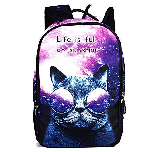 Grund- und Mittelschule Schultasche Schülerrucksack for Mädchen Teen Bookbag Graffiti-Muster Junge Tasche Passt 14-Zoll-Laptop for Studententasche PNYGJIBB (Color : B, Size : 48 * 31 * 15cm) (Bookbags Jansport Für Jungen)