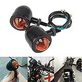 Culater 1 Paar Motorrad Licht Universell Blinklicht LED Kontrollleuchte