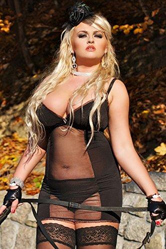 loveorama.de Andalea schwarz transparentes Kleid Domina von Andalea Dessous Größe: 38/40
