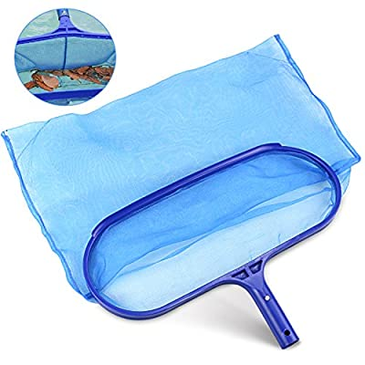 Buluri Professional Pool Skimmer, Heavy Duty Leaf Skimmer- Fine Mesh Net - Sturdy Frame - Suitable for Spas,Swimming Pool, Hot Tubs,Fountain,Fish Tank ect. - For Cleaning Pool Leaves and Debris