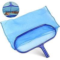 Buluri Desnatadora de piscinas profesional -Red de malla fina -Marco robusto -Adecuado para spas, piscinas, jacuzzis, fuentes, tanques de peces- Para limpiar las hojas y los desechos de la piscina