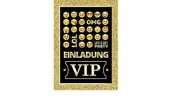 12 Einladungskarten zum Kindergeburtstag Einladungen Geburtstag VIP M/ädchen Jungen Jungs