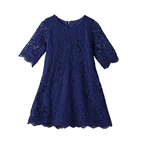 Cutiego Mädchen Blumen-Kleid Rustikale Blumen-Kleid 12-13year Navy blau