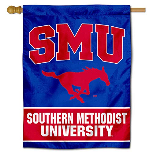 Smu Mustang Logo (College Flags and Banners Co. SMU Banner House Flagge)