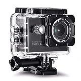 kdheart Action-Kamera Wasserdichte Kamera Sport-DV 140 ° Weitwinkelobjektiv H62 2.0 - Wasserdicht Tauchen TV Out Fahrrad Extremsport Videorekorder