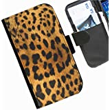 Hairyworm- Empreintes d'animaux étui portefeuille en cuir avec rabat latéral pour Samsung Galaxy S3 Mini (I8190, I8190N) téléphone