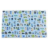 MagiDeal Bambus Baumwolle Wickeltischauflage Stoff Wickelauflage Waschbar Wickelunterlage 80 x 70 cm - blaues Auto, 80 x 70 cm