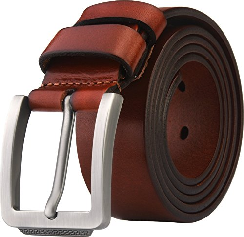 Blasea Full Grain Leather Casual Style Belts for Men 658 Brown 105cm