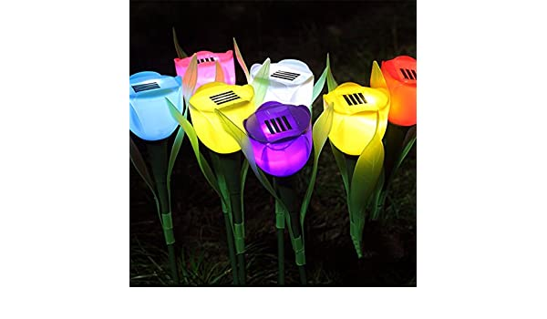 Lampada Fiore Tulipano : Bazaar led luce solare fata fiore tulipano lampada da giardino di