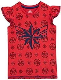 9cf03e63f Disney Camiseta de Manga Corta para niñas Capitana Marvel
