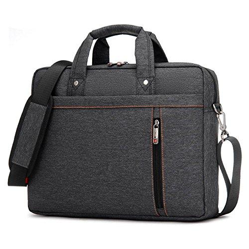 Nlyefa Laptoptasche Notebooktasche, Laptop Tablet Schultertasche 360° stoßfest Umhängetasche Computer Bag Tasche wasserdicht mit Schultergurt für Schule, Studium, Reisen und Büro von schwarz 15 Zoll