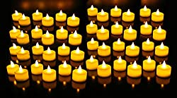 GOYAL® Flameless LED Yellow Tealight (Bulk Set of 48)