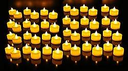 GOYAL® Flameless LED Yellow Tealight (Bulk Set of 48)