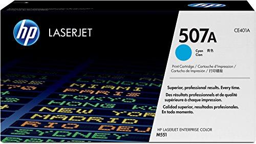 HP 507A (CE401A) Blau Original Toner für HP Laserjet Enterprise M551, Color M575, Pro 570 (Hp Laserjet Enterprise 500 M551xh)