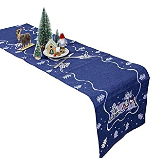 Maxtapos – Mantel para Navidad, diseño de Papá Noel, Bordado