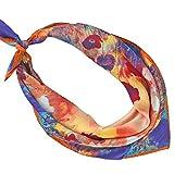 PB-SOAR Damen Seidentuch Seidenschal Bandana Halstuch Nickituch aus 100% Seide 52 x 52cm (Muster 6)