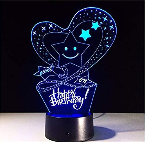 Lampe USB-Remote-Touch-Schalter führte 7 Farbwechsel Liebe Geburtstagsgeschenk -