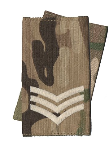 Price comparison product image CL Distribution Pair Of Ivory on Multicam / MTP Sergeant Rank Slides (Multi Terrain Pattern