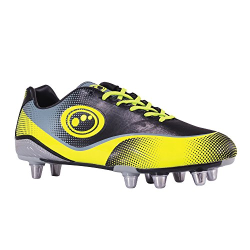 Optimum Atomik, Rugby Homme Noir (Yellow/Grey)
