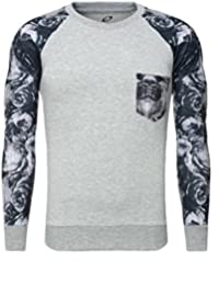 Carisma Jumper Sweatshirt jumper with flowers Sleeves Breast pocket