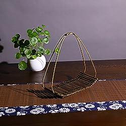 OLQMY-Flores de bambú hecha a mano, ceremonia del té, adornos decorativos, 25x11.5x17cm