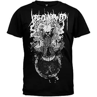 Job For A Cowboy Goat Hair Skull Mens T-Shirt, XX-Large, Black