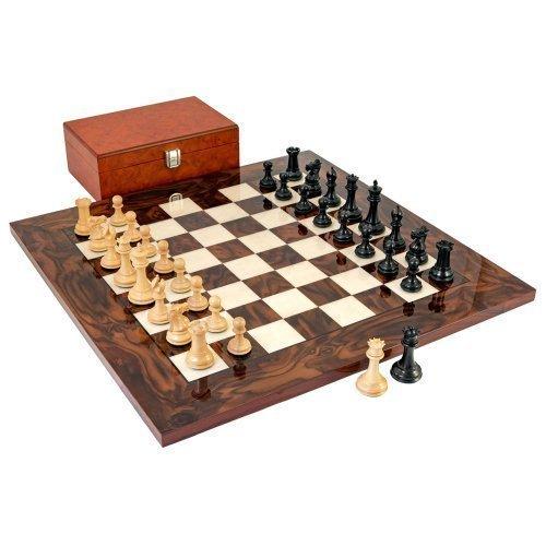 Schwarz Souverän Luxus Schach Set