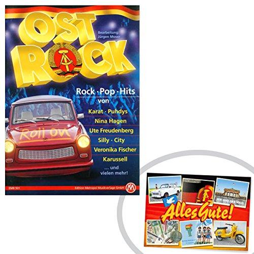 Ostprodukte-Versand.de Noten- und Textbuch OSTROCK | GRATIS DDR Geschenkkarte | Ossi Artikel | Geschenkidee für alle Ostalgiker aus Ostdeutschland | DDR Produkte