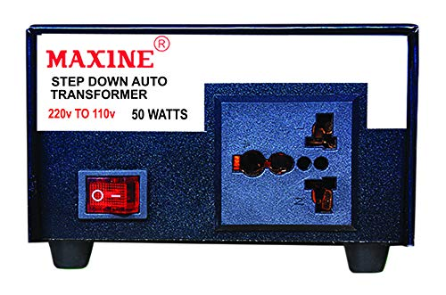 MAXINE 0.5 kVA 50 watts 220 V to 110 V Copper Auto Wound Step Down Transformer for American Products