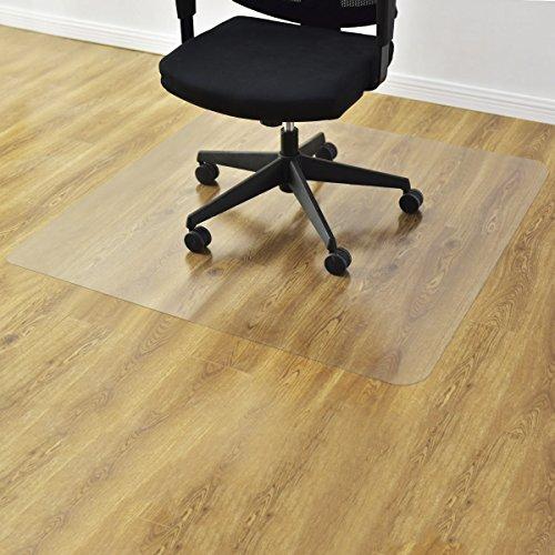 COSTWAY Bodenschutzmatte Bodenschutz Büro Stuhl Unterlage Boden Schutz Matte PVC 2 Größen zur...