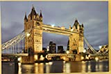 Panorama der London Bridge auf Leinwand mit LED-Leuchten