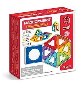 Magformers 14 Basic Plus - Juego de 14 Piezas con Forma de círculo, Juguete de construcción magnético, Multicolor