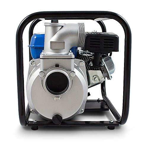BITUXX® Benzin Schmutzwasserpumpe Wasserpumpe Motorpumpe Kreiselpumpe Gartenpumpe Teichpumpe 6,5PS, 60.000l/h, max. Förderlänge 36m, 3Zoll Anschluss - 4