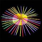 100PCS Glühstab Leuchtende Bälle Blumen Party Gastgeschenke Packung Aufleuchtend Glühend DIY Spielzeug für Kinder Erwachsene Bei Partys