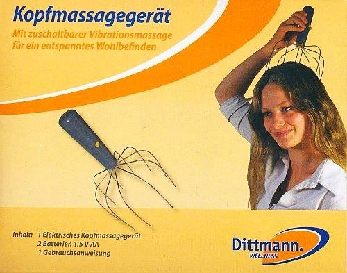 Kopfmassagegerät (elektrisch) mit zuschaltbarer Vibrationsmassage für entspanntes Wohlbefinden