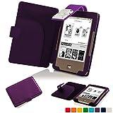 Forefront Cases® Tolino Page Shell Hülle Schutzhülle Tasche Bumper Folio Smart Case Cover Stand mit LED Licht - Leicht mit Rundum-Geräteschutz (VIOLETT)