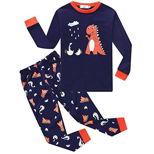 Dinosaurier Pyjamas Pjs (Bestanx Kleine Jungen Dinosaurier Baumwolle Pyjamas Lange Kinder Pjs Kleidung Set)