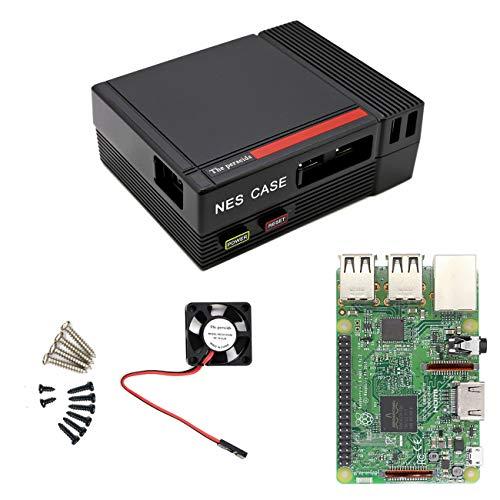 The perseids Caso NES, alimentazione funzionale e pulsante RESET Mini Computer Case con ventola di raffreddamento e Raspberry Pi 3, 2 e B + (Mini Case da solo) (TPNES-SET2FBA)