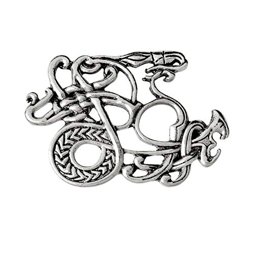 Suolang La Popular Personalidad Retro Creative Viking Aleación Serie Nórdico-Pin para Mama Encuentros Memorial Hombres Y Mujeres Generic, Plata