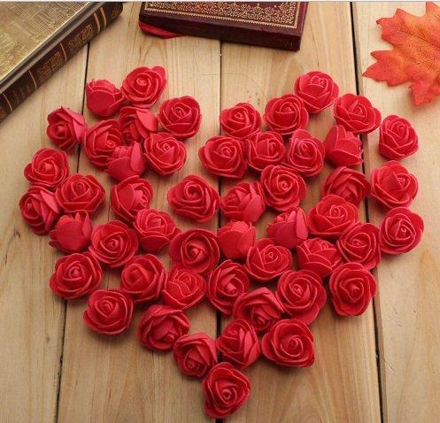 Satyam Kraft Imported (50 Pcs) PE Foam Artificial flower Roses for tiara...