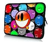 PEDEA Housse de néoprène pour pc portable de 17.3' (43,9cm) Orange Smiley
