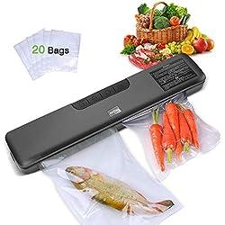 Deeplee AKZIM Mini Machine sous Vide et Sac sous Vide Alimentaire Pack de 2 (28cm x 500cm Chaque) (Machine sous Vide)